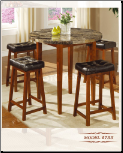 Faux-Marble Table - Genuine Marble Table Dining Set (SKU: EM-755)
