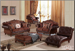 677  Treaditional  2 PC Living Room Set (Sofa and Loveseat)