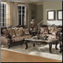 685  French Provincial Styled 2 PC Sofa Set with Solid Wood Frames (Sofa and Loveseat)