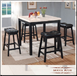 Faux-Marble Table - Genuine Marble Table Dining Set (SKU: EM-756)