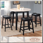 Faux-Marble Table - Genuine Marble Table Dining Set (SKU: EM-757)