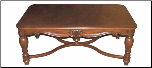 Handcrafted Rectangular Wood Cocktail Table Design (SKU: EM-209)