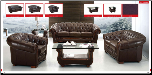 ESF  - Cassic Brown Leather Living Room Set (SKU: ESF- 262 Classic  Leather LRS)
