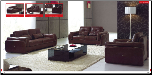 ESF  - 132 Modern Dark Brown Leather Living Room Set