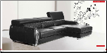 ESF - Modern 19 Sectional in Full Leather by European Style Furniture (SKU: ESF-19-SECSET)