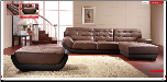 ESF  - Two Tone Modern Leather Sectional Sofa Set - ESF Furniture (SKU: ESF-28-SET)