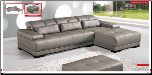 ESF  - Bianca Leather Sectional by ESF (SKU: ESF-6008-BIA-SET)
