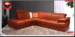 ESF  - Sofa Set 605 Leather with Adjustable Headrests by ESF (SKU: ESF-605-SET)