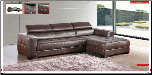 ESF - 8011 Modern Leather Sectional Sofa Set - ESF Furniture (SKU: ESF-8011-SECSET)