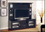 Black Finish  2-Piece Hutch & Base TV Console