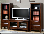 Wood Veneer Entertainment Unit in Walnut or Cappuccino Finish, by Coaster Furniture (SKU: CO-700282)