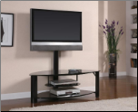 "Athena 50"" TV Stand in Black Finish - Coaster"