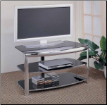 TV Stand 720033 Chrome by Coaster (SKU: CO-720033)