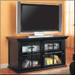TV Stands Transitional Media Console With Sliding Glass Doors by Coaster (SKU: CO-700201)