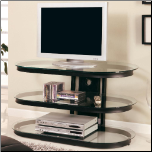 TV Stands Contemporary Media Console with Glass and Chrome Accents by Coaster (SKU: CO-700611)