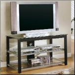 TV Stands Contemporary Metal and Glass Media Console by Coaster (SKU: CO-700612)