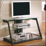 TV Stands Contemporary Metal and Glass Media Console by Coaster (SKU: CO-700613)