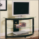 TV Stands Contemporary Metal and Glass Media Console by Coaster (SKU: CO-700614)
