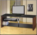 TV Stands Contemporary Media Console with Glass Shelves by Coaster (SKU: CO-700635)