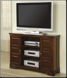 TV Stands Classic Media Console with Doors and Shelves by Coaster (SKU: CO-700637)