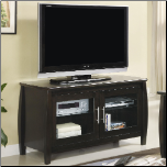 TV Stands Contemporary Media Console with Glass Doors by Coaster (SKU: CO-700647)