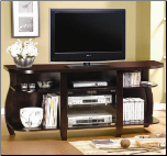 TV Stands Transitional Media Console with Glass Doors and Shelves by Coaster (SKU: CO-700659)