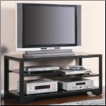 TV Stands Contemporary Metal and Glass Media Console by Coaster (SKU: CO-700663)