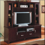Wall Units Contemporary Entertainment Wall Unit by Coaster (SKU: CO-700082)