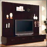 Wall Units Contemporary Entertainment Wall Unit by Coaster (SKU: CO-700185)