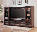 Cappuccino 4-Piece TV Entertainment Wall Unit