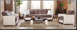Vella 3 Pcs Living Room Set in Jennefer Brown (Sofa, Loveseat and Chair) - Sunset Furniture-Istikbal (SKU: IS-Vella-Set)
