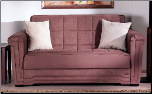 Victoria Loveseat Sleeper in Obsession Truffle - Sunset Furniture-Istikbal SKU #: IS-Victoria-Truffle (SKU: IS-Victoria-Truffle)