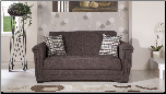 Victoria Loveseat Sleeper in Andre Dark Brown - Sunset Furniture-Istikbal (SKU: IS-Victoria-DarkBrown)