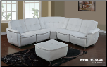4 PCS 3618 Sectional Sofa - White - Global Furniture