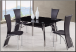 A091 Dining Set A - Black - Global Furniture