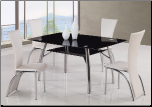 A091 Dining Set B - White - Global Furniture