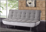 JF65 Sofa Bed - Grey/White - Global Furniture