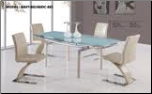 88DT+88DC-BIEGE Dinning Table + 4 Chairs