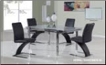 88DT+88DC-SILVER Dinning Table + 4 Chairs