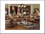 Acme Furniture Living Room Chenille and PU Sofa Set 15160 SET
