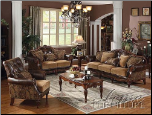 Acme Furniture Bycast PU / Chenille Living Room 05495 Set (SKU: AC-05495)