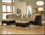 Royce Two Tone Sectional in Brown Bella Microfiber-Homelegance (SKU: HE-9838BR-LVNGSET)