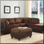 Comfort Living Reversible Sectional - Brown Finish - Homelegance