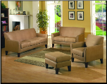 Microfiber Living Room Set in Contemporary Style, 'Petite' Collection by Homelegance. (SKU: HE-Petite9913PT-LVNGSET)