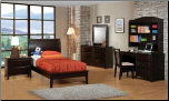 Phoenix Collection Bedroom Furniture Set with Platform Bed in Rich Deep Cappuccino Finish by Coaster - 400181 (SKU: CO-400181-TBSET)