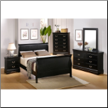 Louis Philippe Youth Bedroom Set in Deep Black Finish by Coaster - 201071T (SKU: CO-201071-FBSET)