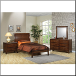 Phoenix Collection Bedroom Furniture Set with Platform Bed in Rich Deep Walnut Finish by Coaster - 400281 (SKU: CO-400281-TBSET)