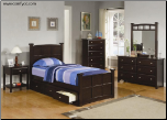 McKenzie Bedroom Collection in Rich Cappuccino Finish by Coaster - 400751 (SKU: CO-400751-TBSET)