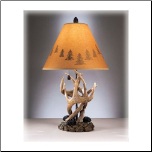 Famous Brand Lamps | Derek Set of 2 of Rustic Antlers & Pine Cone Table Lamps L316984 (Set of 2)by Signature Design by Ashley