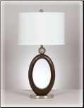 Famous Brand Lamps | Set of 2 Meckenzie Table Lamps Brown/Silver L419994by Signature Design by Ashley